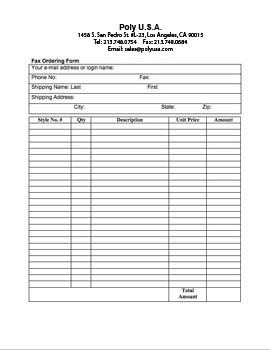 sales order form templates
